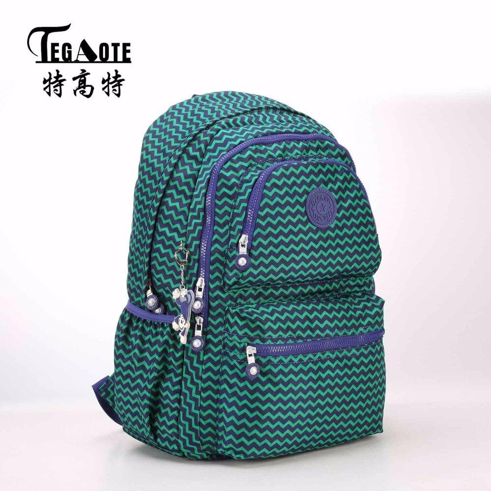 TEGAOTE Light Nylon Waterproof Backpack for Teenage Girl Bookbag Mochila Feminine Backpacks Women Leopard Pattern Travel