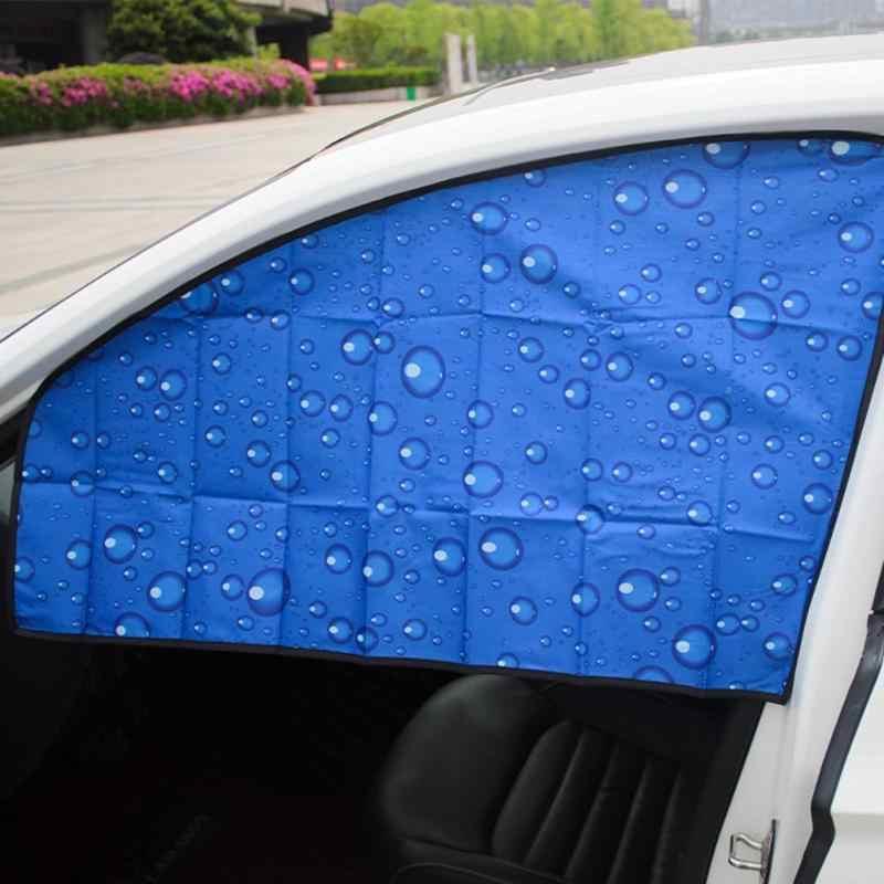 รถด้านข้างหน้าต่าง Sun Shade Magnetic UV ป้องกันผ้าม่านหน้าต่างด้านข้าง Sunshade Sun Visor ฤดูร้อน 4 ชั้นป้องกันรังสี UV ปก