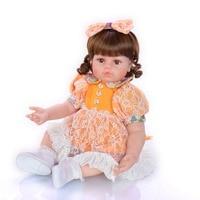 60cm pretty girl doll realistic reborn baby doll toy soft slicone newborn doll children Surprise birthday gifs alive bebes rebor