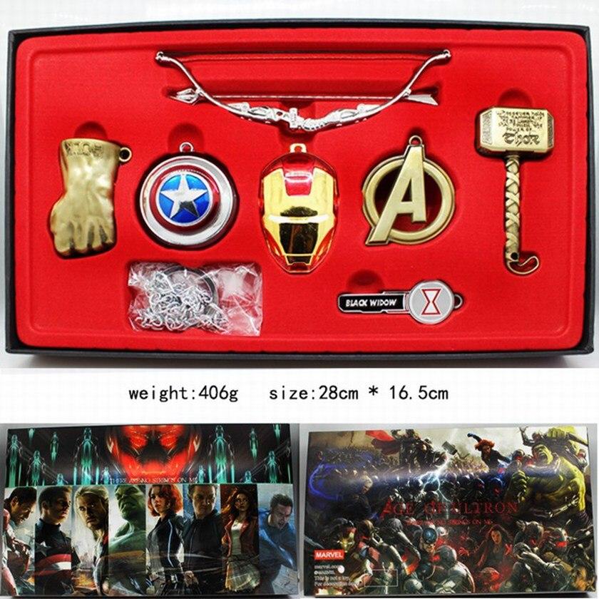 Винтажные игрушки Marvel, Мстители, бесконечность, война, перчатка Таноса, бесконечность, рукавица, брелки, маска Железного человека, Халка, косплей, брелок, детский подарок - Цвет: serie 2 gold