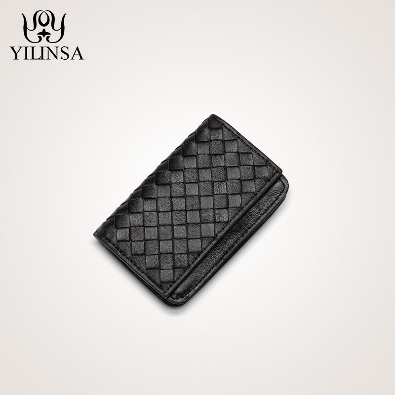 Leather Business Card Holder Purses Men Women Wallet High Capacity ID card small card package For Male ladies wallets and purse