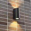 LukLoy GU10 наружный Настенный светильник водонепроницаемый балкон сад вилла двор прохода двухстороннее Освещение Бра наружный настенный свет...