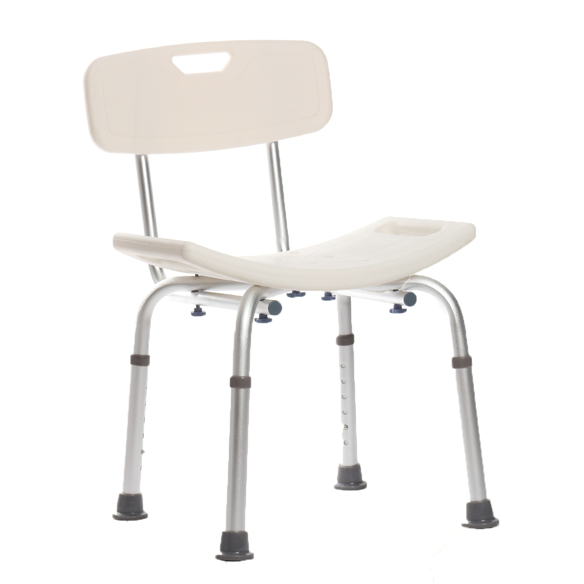 Aluminium Bath Shower Seat Stool Chair Adjustable Height Mobility ...