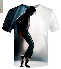 2016 Fashion Brand Clothing Michael Jackson Printed T-Shirt Men Short Sleeve Casual Rock Hip Hop T Shirt Homme Fitness Camisetas
