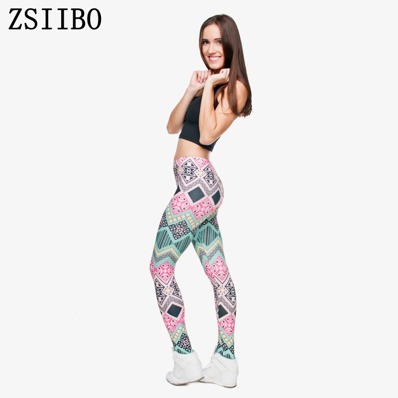 a06a3b5f0ec9bd קנו מכנסיים לנשים   ZSIIBO wholelsales New Fashion Women leggings 3D ...