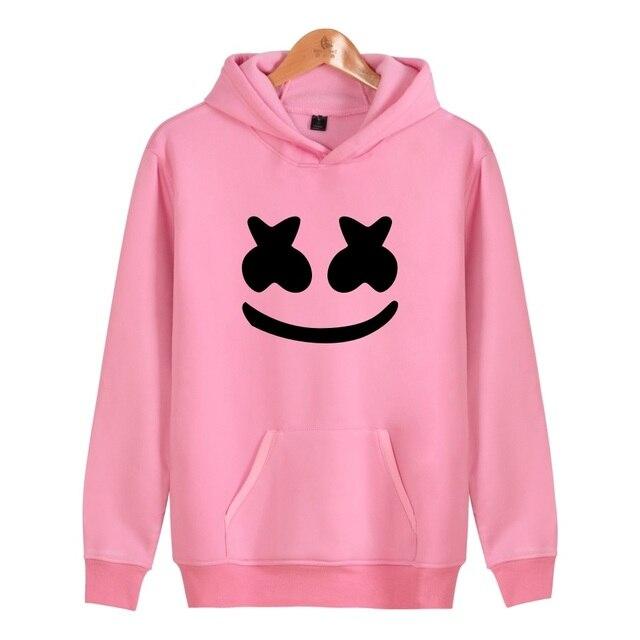 a07418934ae US $17.98  WEJNXIN Cool Marshmello Face Design Hood Hoodies Women Men  Casual Sweatshirt Sportswear Girl Pullover Fleece Warn Hooded Jacket-in  Hoodies ...