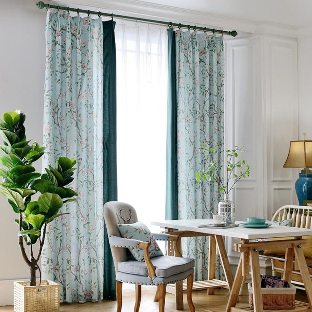 diseo del modelo de flores ventana inicio apagn tela cortinas para el dormitorio saln cocina cortina - Cortinas Salon