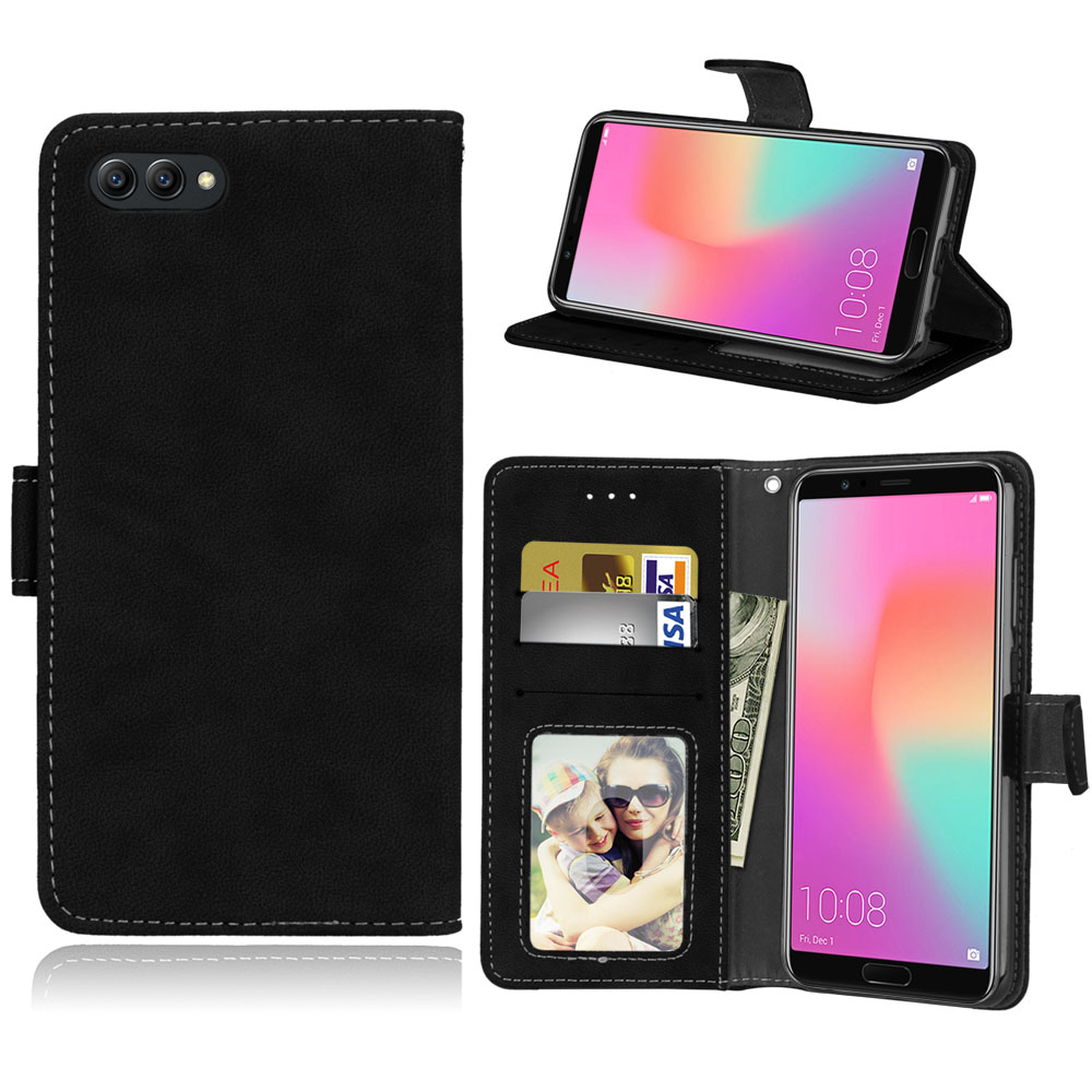 For Huawei Honor View 10 V10 Flip Cover stand Leather Wallet Case For honor V10 Coque Fundas with card pocket image