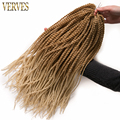 Ombre Crochet Braid hair small Senegalese Twist Hair 18inch 75grams/pcs,30 roots Synthetic Braiding Hair braiding hair extension