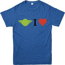 Star Wars T-Shirt,Yoda I Love Spoof,Marvel Comics,Adult and kids Sizes Free shipping  Harajuku Tops Fashion Classic