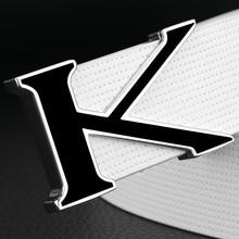 K brand fashion letter buckle white belt men genuine leather designer belts high quality luxury Waist Strap casual sash
