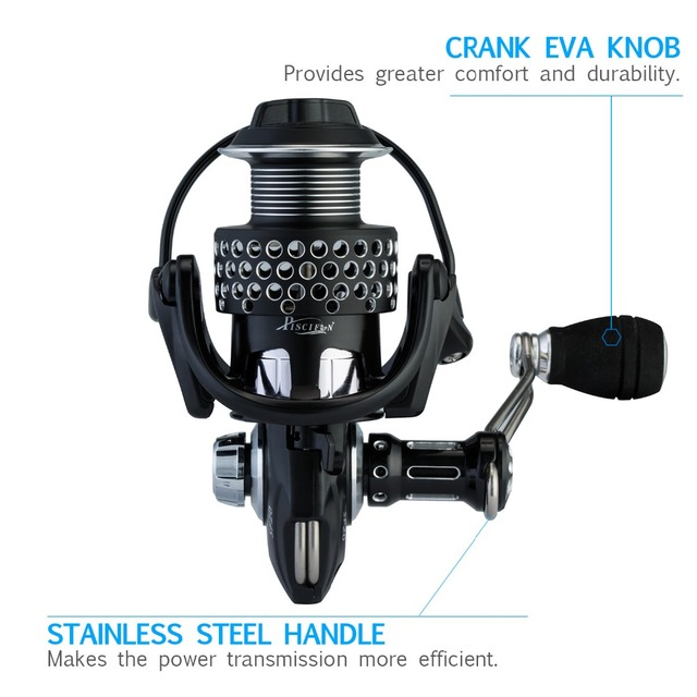 Steel Feeling Spinning Reel Super Light Weight Full Metal Body Max Drag 5-10KG