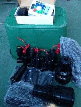 Système D'irrigation K-rain RPS 46 Contrôleur 4 Stations Avec Fiche 220 Volts, Vannes D'arrosage, Boîte De Valve, Kit De Système D'irrigation