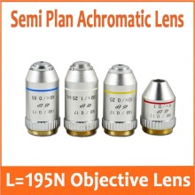 4X 10x(S) 40x(S) 100x(S+oil) 195N Semi Plan Achromatic Objective Lens 160/0.17 Thread Diameter 20.2mm for Biological Microscope biological achromatic microscope objective 185 metal stereoscope 4x 10x 40x 60x 100x