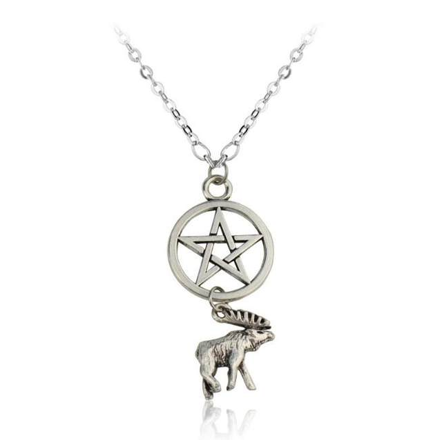 Online shop 1 pcsset fashion supernatural pentagram cute moose 1 pcsset fashion supernatural pentagram cute moose and squirrel friendship pendant necklace men women jewelry aloadofball Gallery