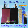 """High Quality New Touch Screen Digitizer + LCD Display Replacement For Meizu M3 mini Cellphone 1280*720 5.0"""" Black Color Gifts"""