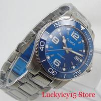 Sapphire Crystal Automatic Men's Watch Luxury BLIGER Watch 40mm Wristwatch With Date Window