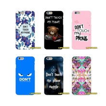 For Sony Xperia Z Z1 Z2 Z3 Z4 Z5 compact M2 M4 M5 E3 T3 XA Aqua Accessories Phone Shell Covers Do Not don't Touch My Phone
