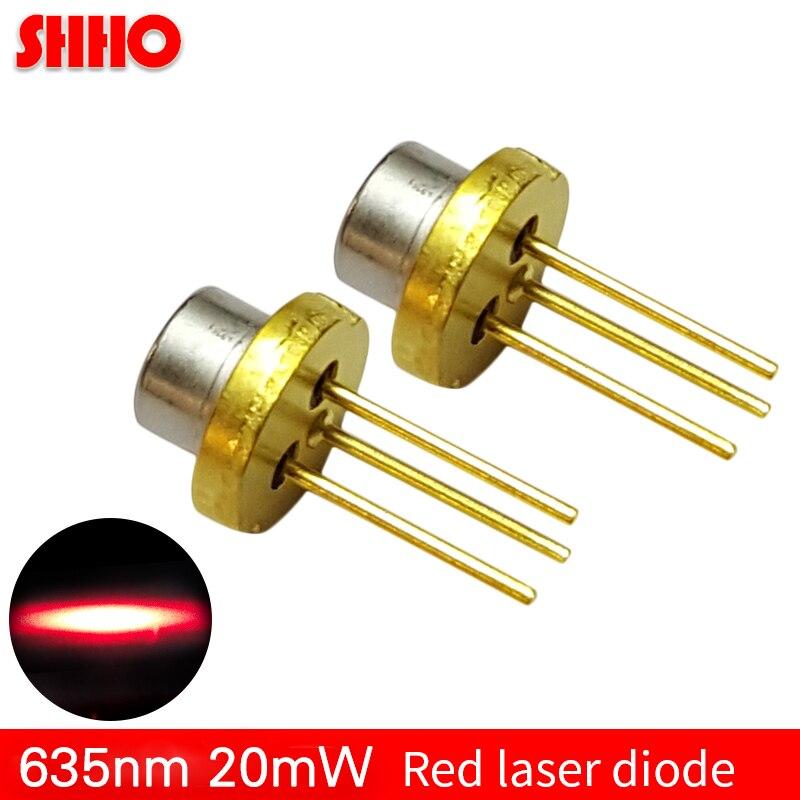 Diode laser de lumière rouge de haute qualité 635nm 20 mw avec dispositif à semi-conducteur PD tube laser TO18 diamètre 5.6mm faible puissance