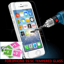 2016 New 0.26 mm For iphone 5s Tempered Glass Screen Protectoron the iPhone 5s front clear protective glass on the iPhone 5s стоимость
