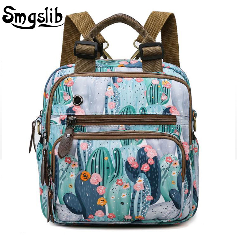 Baby Diaper Bag Backpack Waterproof Flowers Printing Handbag Mochila Leather Nappy Bag Tote Travel Mommy Mini Bag Wetbag