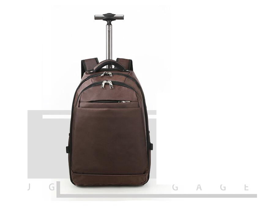 Men Nylon Travel Trolley Backpack Bags Travel Trolley Rolling Bags ... 1e39ecf779