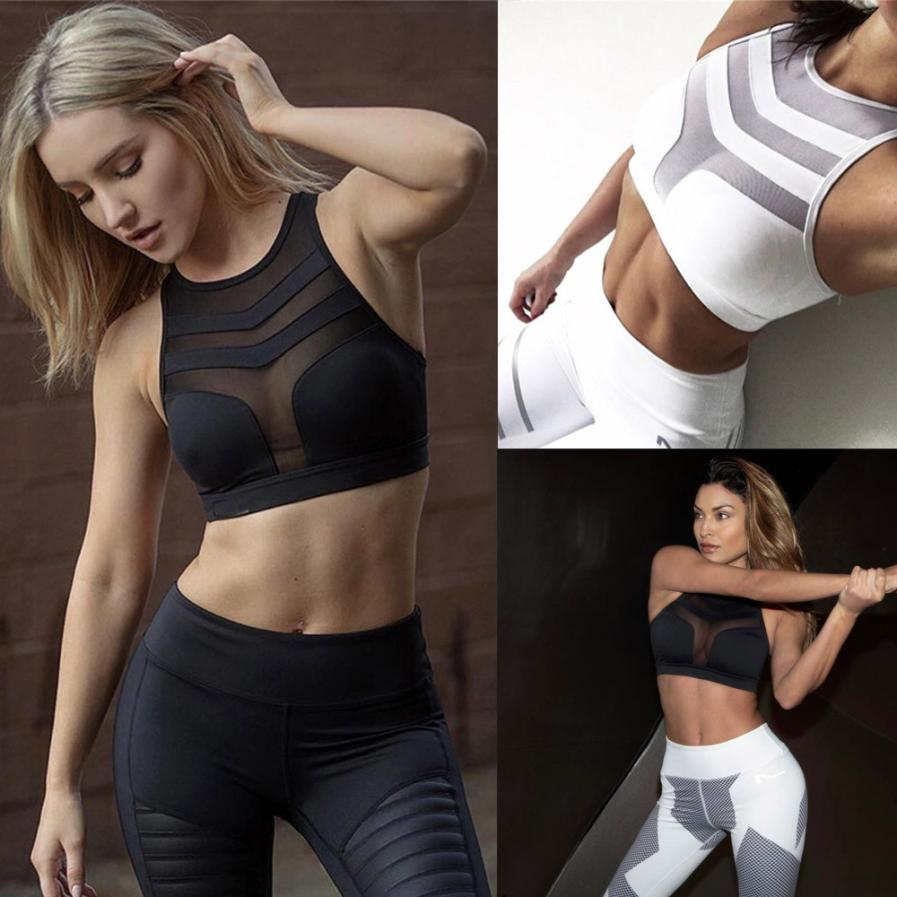 MUQGEW New Arrival Women Exercises Bra Workout Popular Style Tank Tops Stretch Seamless Racerback Fitness Padded