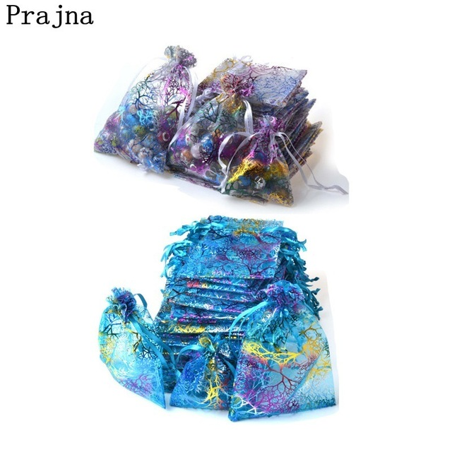 Prajna 10 PCS Small Organza Bags Wedding Favors Gifts Christmas Birthday Gift Bag Jewelry Packaging Decoration Pouches