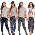 2016 New Fashion Chiffon Print Harem Pants Women Casual Bloomers Loose High Waist Pants Trousers Women Leggings