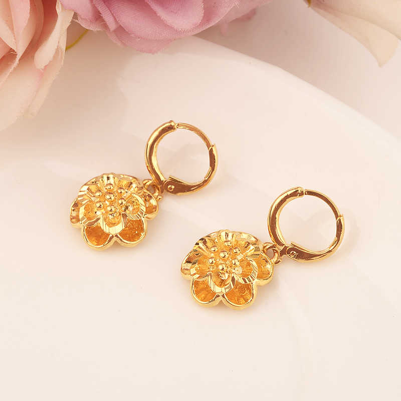 Detail Feedback Questions about gold flower drop earring