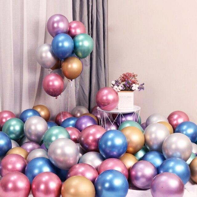 Heronsbill металлические шары с днем рождения украшения Дети Девочка Мальчик взрослые поставки первый 18 21 30 40 50 60 70 80 1-й