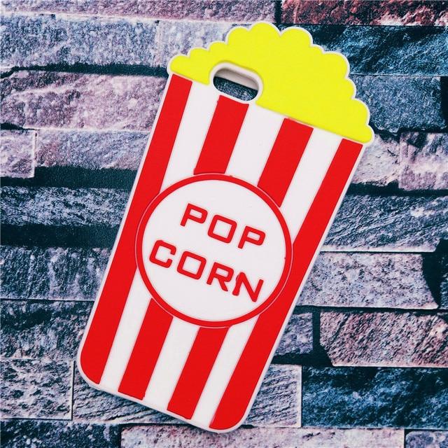 coque iphone 4 silicone pop corn