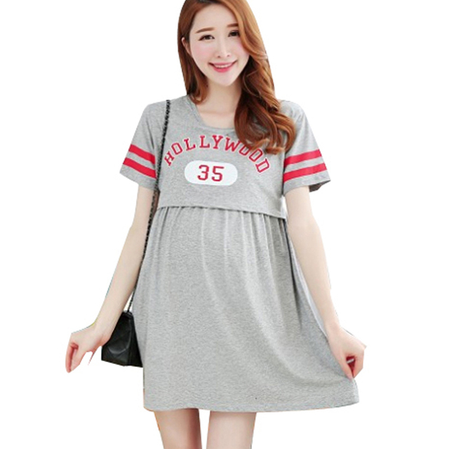 7f30bf65316 Summer Maternity Nursing Dress Mothers Breastfeeding Dresses Pregnant Women  Nightgown Sleepwear Clothing Feeding Pajamas Clothes