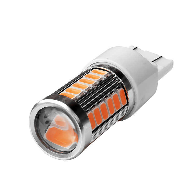 1PCS T20 7443 W21/5W 33 SMD 5630 LED Car Tail Brake Lights Rear Fog Lamps 33SMD 5730 Auto Turn Signals Bulbs Yellow Red White