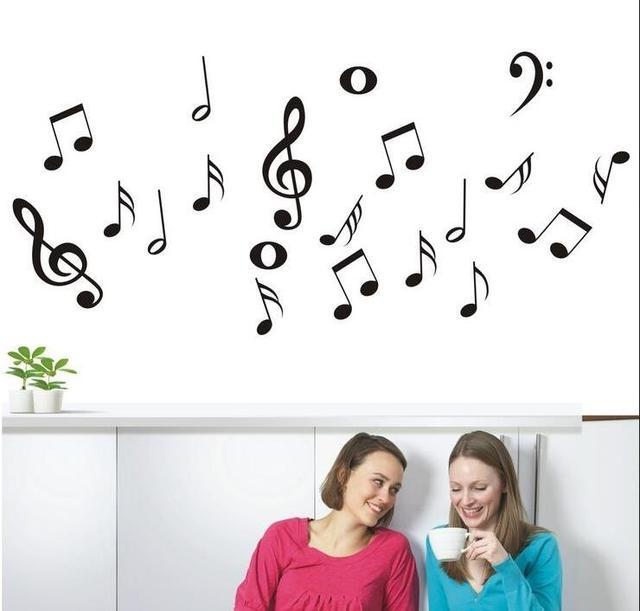 Diy Music Symbols Removable Wall Sticker For Living Room Vinyl