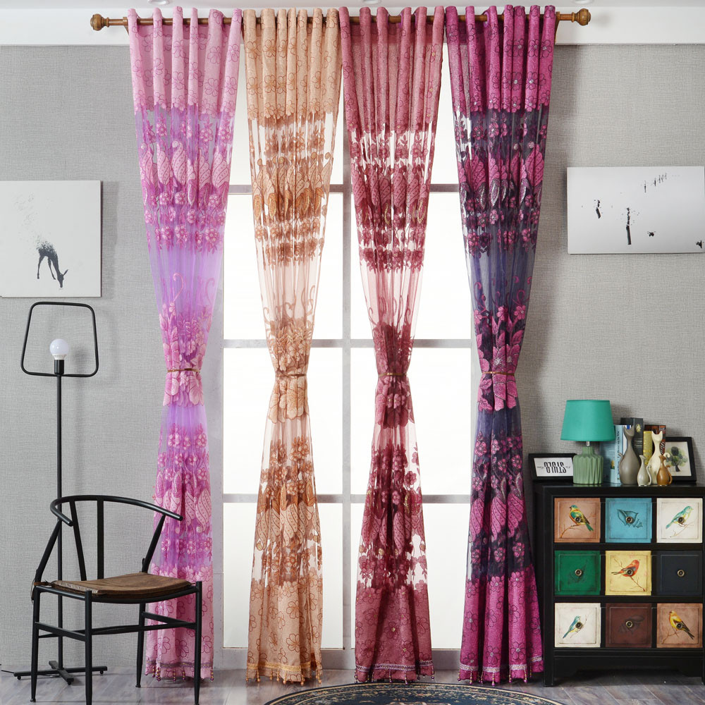 Designer curtain panels - Hot 100cmx250cm Fashion Window Curtains Solid Color Window Treatment Panels Door Drape 2017 New Design Elegant