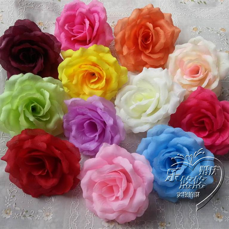 Wholesale white handmade silk rose flowers head diy craft for Wholesale craft supplies in bulk