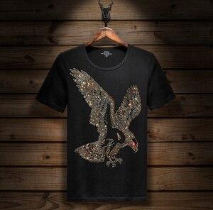 Image 1 - Kurzarm T shirt Lycra Baumwolle Elastische t shirt männer mode Sommer Halb Hülse Boden t shirt