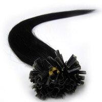ZZHAIR 100 16 24 Brazilian Human Hair Extensions Capsule Keratin Nail U Tip Hair Fusion 40g