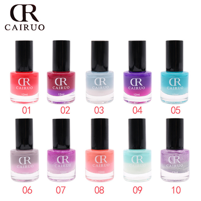 CR Brand Temperature Color 26 Colors Nail Polish Long Lasting Nail ...