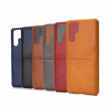 Card Slots Wallet Case for Huawei P30 Pro P20 Lite Coque Genuine Real Leather Cover for Huawei P20 Plus P20 Lite Protective Case protective genuine leather case w card holder slots for lg nexus 5 white
