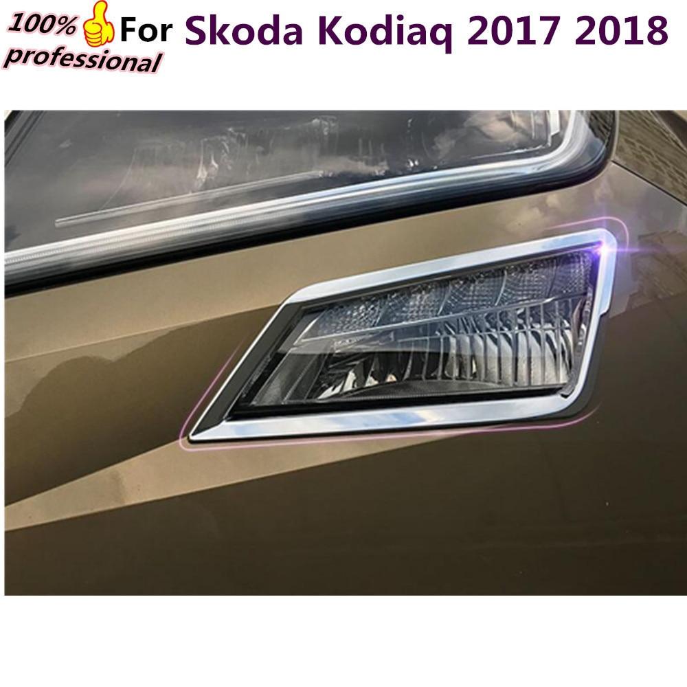 For Skoda Kodiaq 2017 2018 car body front head Light lamp hoods