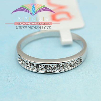 GH612 USTAR Brand the Simple Genuine Austrian Crystal rings for womenGold Silver color Jewelry
