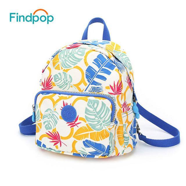 Findpop Fashion Casual Backpack Women 2018 New Waterproof Mini Backpack For  Women Canvas Floral Printed Small Backpack For Girls 78101fe100415
