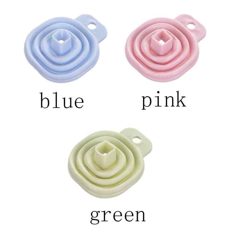 1pc Blu/Colore Rosa/Verde Creativo Famiglia Retrattile Gel di Silice Mini Imbuto Appeso Famiglia Liquido Utensili Da Cucina