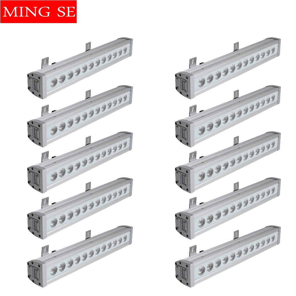 Commercial Lighting Self-Conscious 10pcs/lots 12x12w Rgbw 4in1 Ip65 Waterproof Led Bar Wall Washer Led Outdoor Flood Light Party Wedding Shows Stage Light