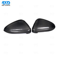 A4 A5 Mirror Cover For Audi RS5 B9 S4 S5 RS4 dry Carbon Fiber Side RearView Mirror Cover Replacement&add on 2016 2017 2018 2019
