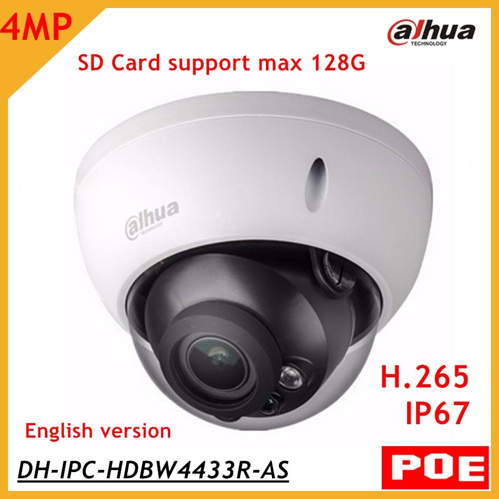 Dahua 4Mp IPC-HDBW4433R-AS replace IPC-HDBW4431R-AS IP camera network camera Support POE Micro SD Audio English Version original dahua 4mp ipc hdbw4421r as ip network camera support poe