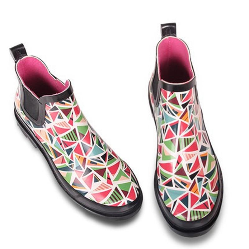 Online Shop 2017 Summer women ankle rain boots female short rain ...