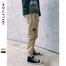 INFLATION 2020 nowa marka modowa kieszenie spodnie joggery męskie spodnie Casual męskie biegaczy jednokolorowe spodnie spodnie 8865W